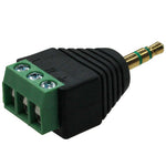 3.5mm TRS Plug to 3-Pin Terminal Adapter - EWAAY.COM