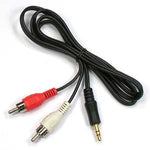 3Ft 3.5mm Stereo Plug to 2xRCA-M Cable