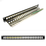 1U 24 Port Cat.5E/6/6A STP Blank Patch Panel