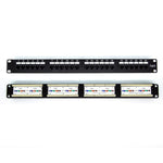 Cat6 110 Type Patch Panel 24Port RackMount