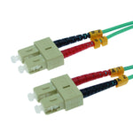 SC/UPC-SC/UPC OM3 Multimode Duplex Aqua 50/125 Fiber Optic Patch Cable - EAGLEG.COM