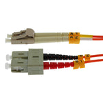 OM1 LC-SC Duplex Multimode 62.5/125 Fiber Optic Cable