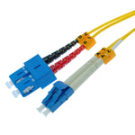 LC/UPC-SC/UPC Singlemode Duplex 9/125 Fiber Optic Patch Cable - EWAAY.COM