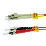 LC/UPC-ST/UPC OM1 Multimode Duplex 62.5/125 Fiber Optic Patch Cable - EAGLEG.COM