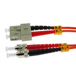 ST/UPC-SC/UPC OM1 Multimode Duplex 62.5/125 Fiber Optic Patch Cable - EAGLEG.COM