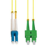 LC/UPC-SC/APC Singlemode Duplex 9/125 Fiber Optic Patch Cable - EWAAY.COM