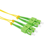SC/APC-SC/APC Singlemode Duplex 9/125 Fiber Optic Patch Cable - EAGLEG.COM
