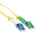 LC/UPC-LC/APC Singlemode Duplex OFNR 9/125 Fiber Optic Patch Cable - EWAAY.COM