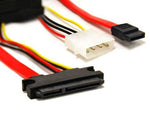 "18"" SATA 7P+15P to SATA/4-pin Power Cable - EAGLEG.COM"