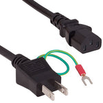 6Ft 18AWG Japan Power Cord IEC-60320-C13 to JIS 8303 Non Polarized w/Ground - EAGLEG.COM