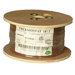 500Ft 18/2 Unshielded CMR Thermostat Cable Solid Copper PVC - EWAAY.COM