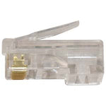 RJ45 Cat.5E Plug Solid 2Prong 6Micron 100pk