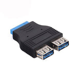 2-Port USB 3.0 Header Adapter 20-Pin - EAGLEG.COM