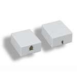 RJ11 Modular Single Port Surface Mount Jack White - EAGLEG.COM