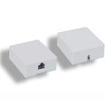 RJ45 Modular Single Port Surface Mount Jack White - EWAAY.COM