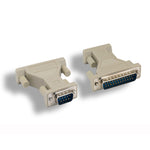 DB9-M/DB25-M Serial Port Adapter, Thumbscrew/Thumbscrew - EWAAY.COM