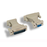 DB9-F/DB25-M Serial Port Adapter, Thumbscrew/Thumbscrew - EWAAY.COM