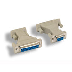 DB9-F/DB25-F Serial Port Adapter, Thumbscrew/Thumbscrew - EWAAY.COM