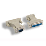 DB9-M/DB25-F Serial Port Adapter, Thumbscrew