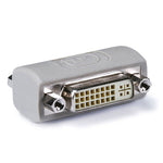 DVI-I Coupler Female to Female Gender Changer Bulkhead Adapter Beige - EWAAY.COM
