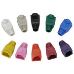 Color Boots for RJ45 Plug Black 100pk