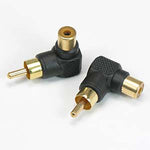 RCA Male/Female Right Angle Adapter