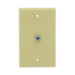 F Coupler Wall Plate Ivory 3GHz Rated - EAGLEG.COM
