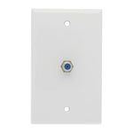 F Coupler Wall Plate White 3GHz Rated - EAGLEG.COM