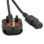 6Ft England Power Cord IEC-60320-C13 to BS1363 With Fuse - EAGLEG.COM