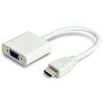 HDMI to VGA Female Adapter with Audio White - EAGLEG.COM