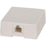 RJ12 Modular Single Port Surface Mount Jack White