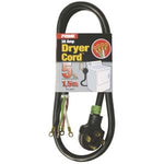5Ft 10/4 30 Amp Black 4-Wire Dryer Cord - EWAAY.COM
