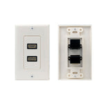 2 Port Decor HDMI Wall Plate, 90 Degree