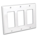 Triple Gang Decora Wall Plate White - EAGLEG.COM