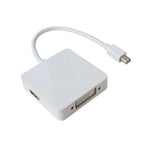 3 in-1 Mini DisplayPort (Thunderbolt) Male to HDMI/DisplayPort/DVI Female Adapter - EWAAY.COM