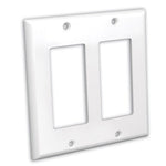 Dual Gang Decora Wall Plate White
