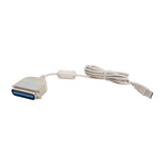 6Ft USB to Parallel Printer Cable (Cent.36-M) Bi-Directional - EWAAY.COM