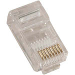 RJ45 (8P8C) Plug for Stranded Flat Wire 100pk