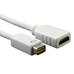 6 Inches Mini-DVI Male to HDMI Female Adapter