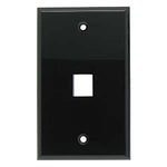 1Port Keystone Wallplate Black Smooth Face - EAGLEG.COM