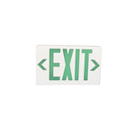 Plastic LED Exit Sign with Backup Battery Green