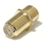 F-Type Dual Female Inline Coupler Gold Plated - EAGLEG.COM