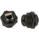 Cat.6 RJ45 Shielded Industrial Panelmount Bulkhead Coupler - EWAAY.COM