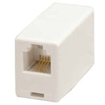 RJ11 Modular Inline Coupler Straight, White - EAGLEG.COM