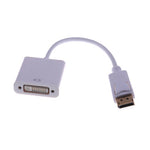 Display Port Male to DVI Female Adapter Cable White - EWAAY.COM