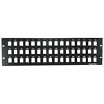 "3U 19"" 48port Blank Panel for Keystone Jack"