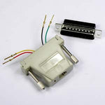 DB25 Male to RJ11 (4 wire) Modular Adapter, Ivory - EWAAY.COM