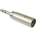 "XLR Male to 1/4"" Stereo Male Adapter - EAGLEG.COM"