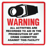 "Surveillance Warning Sign English 10.5""x10.5"" - EWAAY.COM"