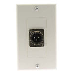XLR Male Decora Wall Plate White - EAGLEG.COM